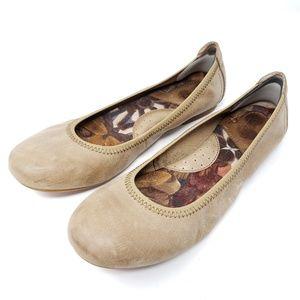 Born Ballet Flats Tan Leather Comfort Shoes